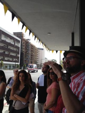 Students join the APA/LA's Summer in the City tour of downtown Glendale