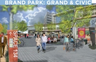 Concept Rendering for Brand-Central Civic Park