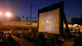 "Screening of Noir classic ""Double Indemnity"" at Glendale Train Station, where the film's murder scene takes place."