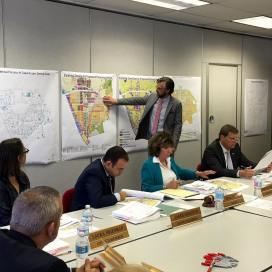 Explaining land use development history at July 12, 2016 City Council planning workshop