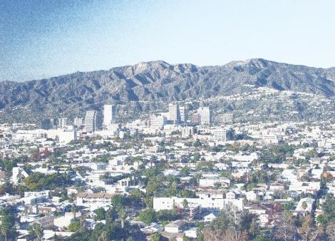 Glendale, California taken from Forest Lawn, Glendale.