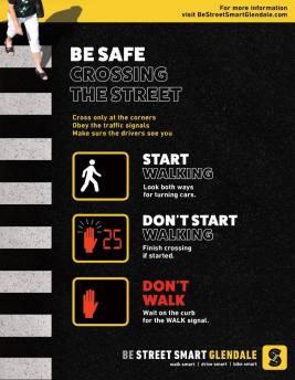 Be Street Smart Glendale Bus Shelter Ad