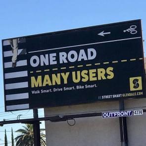 Be Street Smart Glendale billboard