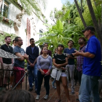 Visiting National Landmark Patio del Moro in West Hollywood