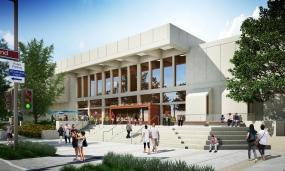 Glendale Central Library rendering by Gruen Associates