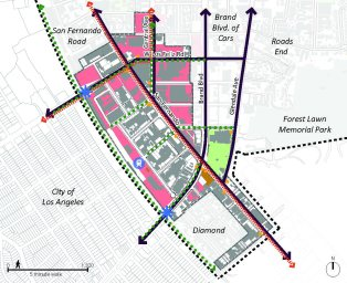 Map of the Tropico TOD Center
