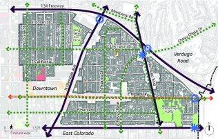 Map of the City Center-Citrus Grove Neighborhoods