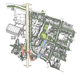 Pacific Edison Birdseye as drawn by CityWorks Design