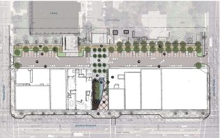MONA Paseo and Alley Schematic Plan by AECOM