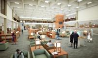 Interior Rendering by Gruen Associates