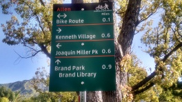 Bicycle Wayfinding Sign on Allen Avenue