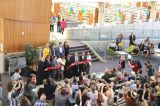 Ribbon Cutting Opening the Central Library (photo by Cindy Cleary)