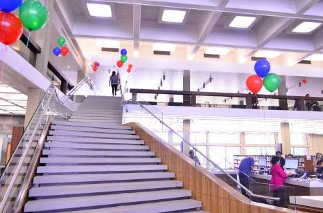 The new grand staircase (photo by Glendale Library Arts & Culture Dept)