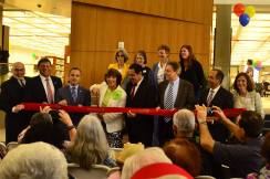 City Council members cut the ribbon to reopen the Central Library (photo by Glendale Library Arts & Culture Dept)