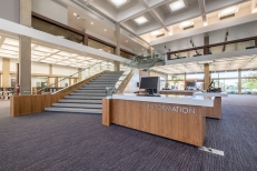 Glendale Central Library Grand Stair and Info Station (photography by Tom Pellicer)